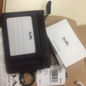 coach skinny mini ID card holder and keychain